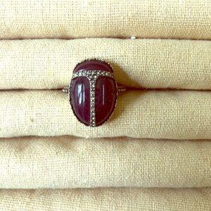 Scarab Beetle Ring Size 8